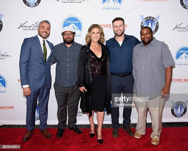 Director Oz Rodriguez Bobby Moynihan Rita Wilson Taran Killam and Kenan Thompson attends the 'Brother Nature' New York Premeire at Regal EWalk 13 on...