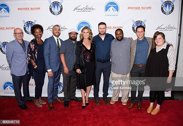 Director Oz Rodriguez Bobby Moynihan Rita Wilson Taran Killam Kenan Thompson and executives attend the 'Brother Nature' New York Premeire at Regal...