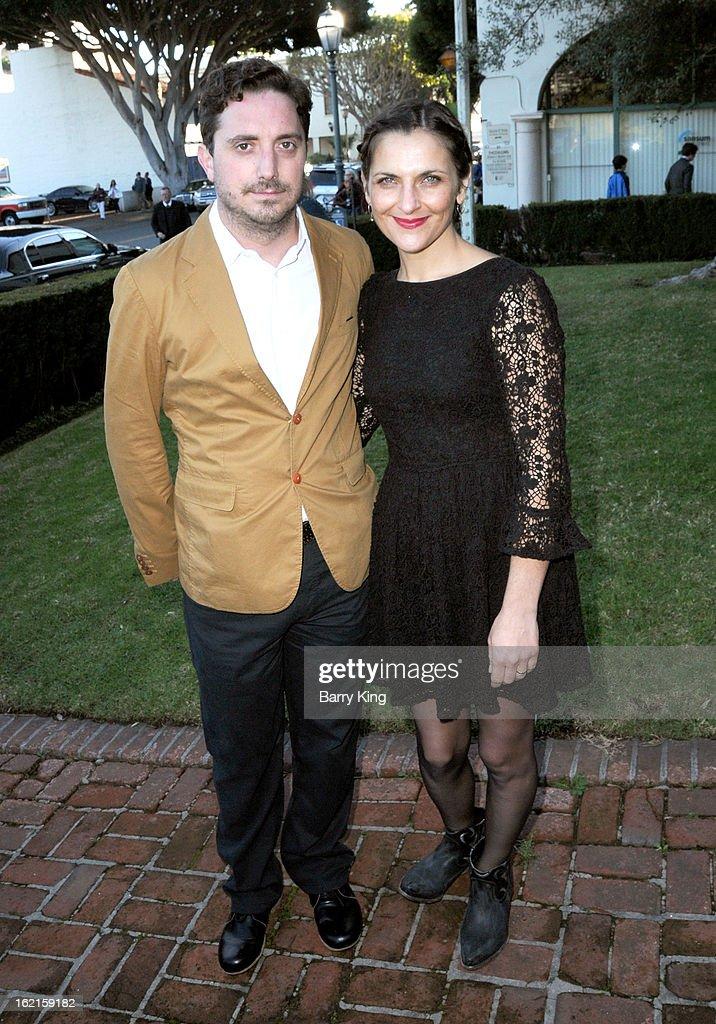 Director Pablo Larrain and actress Antonia Zegers attend the 28th Santa Barbara International Film Festival 'No' Premiere at Lobero Theatre on...