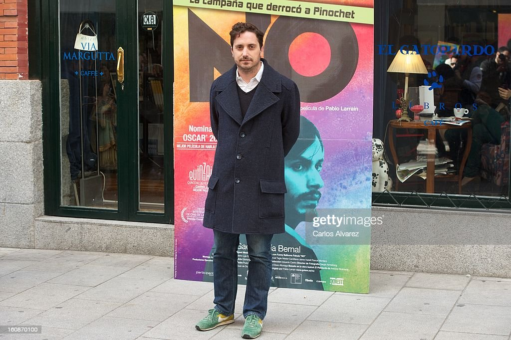 Director <a gi-track='captionPersonalityLinkClicked' href=/galleries/search?phrase=Pablo+Larrain&family=editorial&specificpeople=5351700 ng-click='$event.stopPropagation()'>Pablo Larrain</a> attends the 'No' photocall at the Golem cinema on February 7, 2013 in Madrid, Spain.