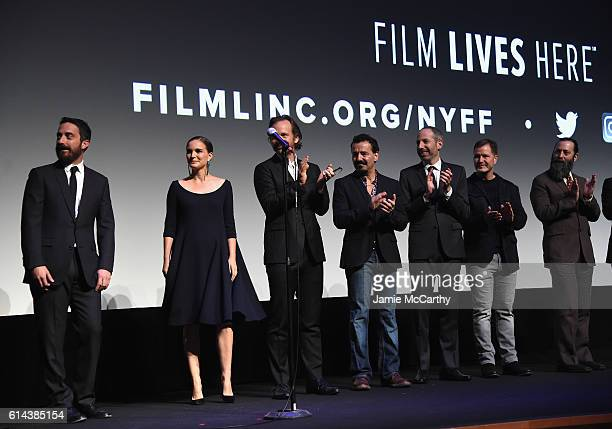 Director Pablo Larrain Natalie Portman Peter Sarsgaard Max Casella and writer Noah Oppenheim attend the 54th New York Film Festival 'Jackie'...
