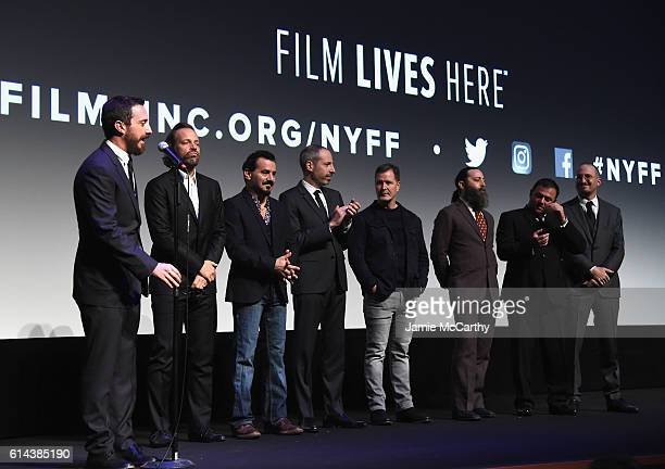 Director Pablo Larrain Natalie Portman Peter Sarsgaard Max Casella writer Noah Oppenheim and producer Mikey Liddell attend the 54th New York Film...