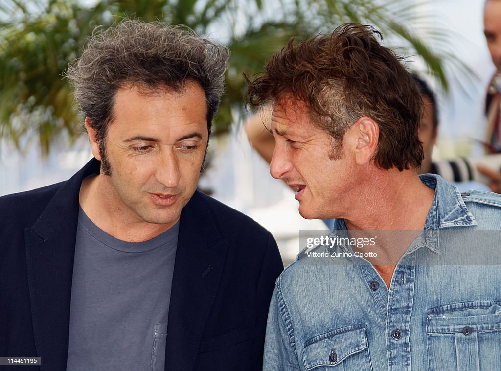 Director Paolo Sorrentino (L) and actor Sean Penn attend the 'This Must Be The Place' photocall during the 64th Annual Cannes Film Festival at Palais des Festivals on May 20, 2011 in Cannes, France.