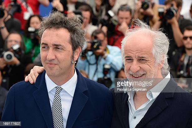 Director Paolo Sorrentino and actor Toni Servillo attend the 'La Grande Bellezza' Photocall during The 66th Annual Cannes Film Festival at the Palais...