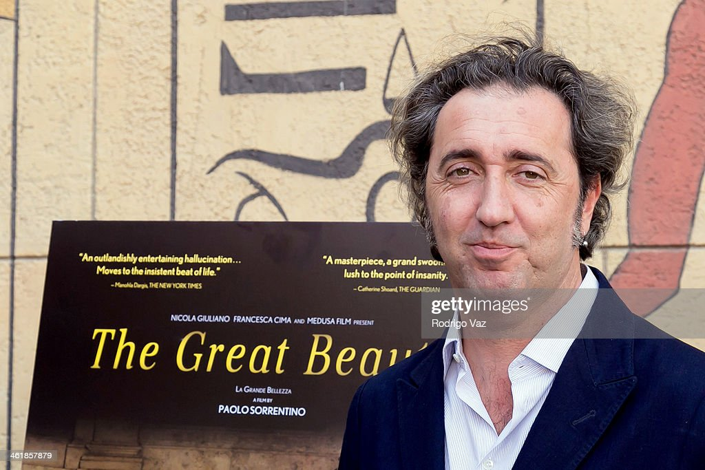 Director Paolo Sorrentino attends the Golden Globe ForeignLanguage Nominees panel discussion and screening series photo op at American Cinematheque's...