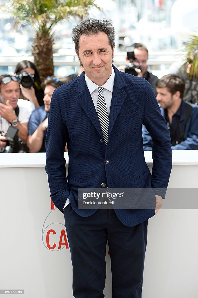 Director Paolo Sorrentino attends the photocall for 'La Grande Bellezza' during the 66th Annual Cannes Film Festival at Palais des Festivals on May...