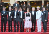 Director Paolo Sorrentino Heinz Lieven Liron Levo Sean Penn Eve Hewson Judd Hirsch David Byrne and Simon Delaney attend the 'This Must Be The Place'...