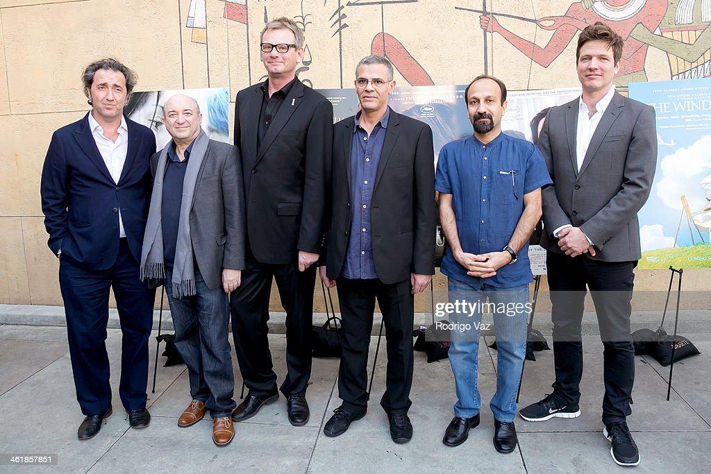 Director Paolo Sorrentino Serge Rakhlin HFPA President Theo Kingma and directors Abdellatif Kechiche Asghar Farhadi and Thomas Vinterberg attend the...