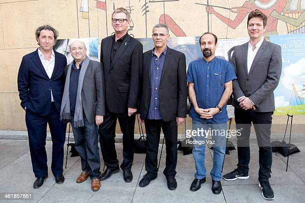 Director Paolo Sorrentino Serge Rakhlin HFPA President Theo Kingma and directors Abdellatif Kechiche Asghar Farhadi and Thomas Vinterberg attend the...