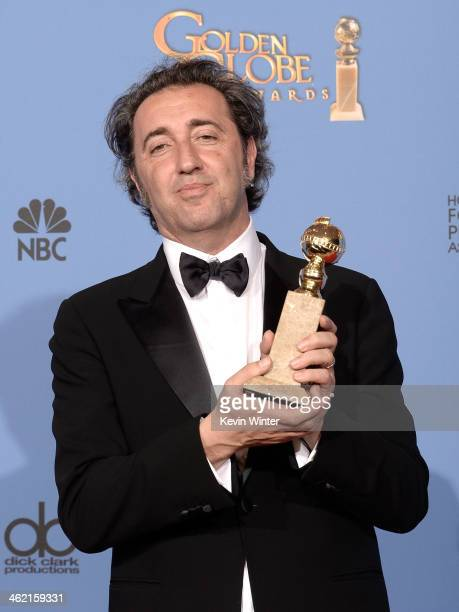 Director Paolo Sorrentino winner of Best Foreign Language Film for 'The Great Beauty' poses in the press room during the 71st Annual Golden Globe...