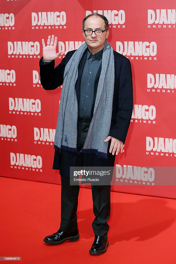 Director Pappi Corsicato attends the 'Django Unchained' premiere at Cinema Adriano on January 4, 2013 in Rome, Italy.