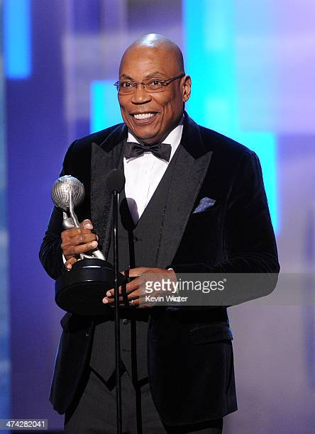 Director Paris Barclay accepts the Hall of Fame award onstage during the 45th NAACP Image Awards presented by TV One at Pasadena Civic Auditorium on...