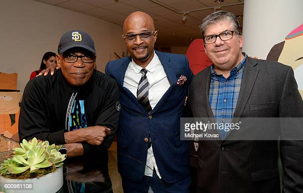 Director Paris Barclay actor Damon Wayans Sr and moderator Jim Halterman at The Paley Center for Media's 10th Annual PaleyFest Fall TV Previews...