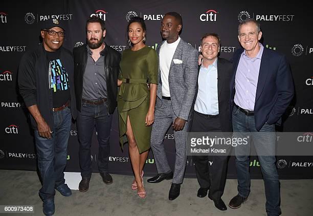 Director Paris Barclay actor MarkPaul Gosselaar actress Kylie Bunbury actor Mo McRae executive producer Rick Singer and executive producer Kevin...