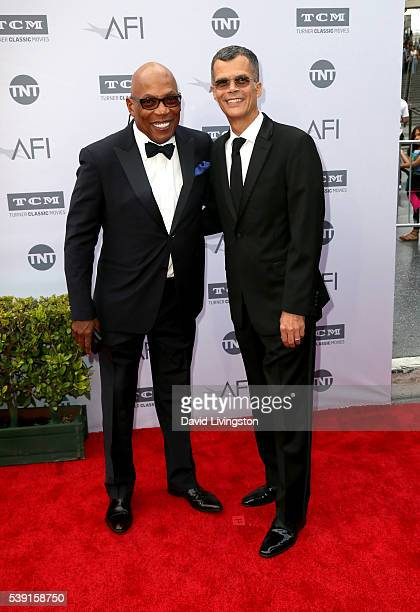 Director Paris Barclay and Christopher Mason attend American Film Institute's 44th Life Achievement Award Gala Tribute to John Williams at Dolby...