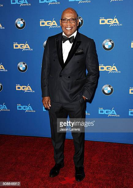 Director Paris Barclay attends the 68th annual Directors Guild of America Awards at the Hyatt Regency Century Plaza on February 6 2016 in Los Angeles...