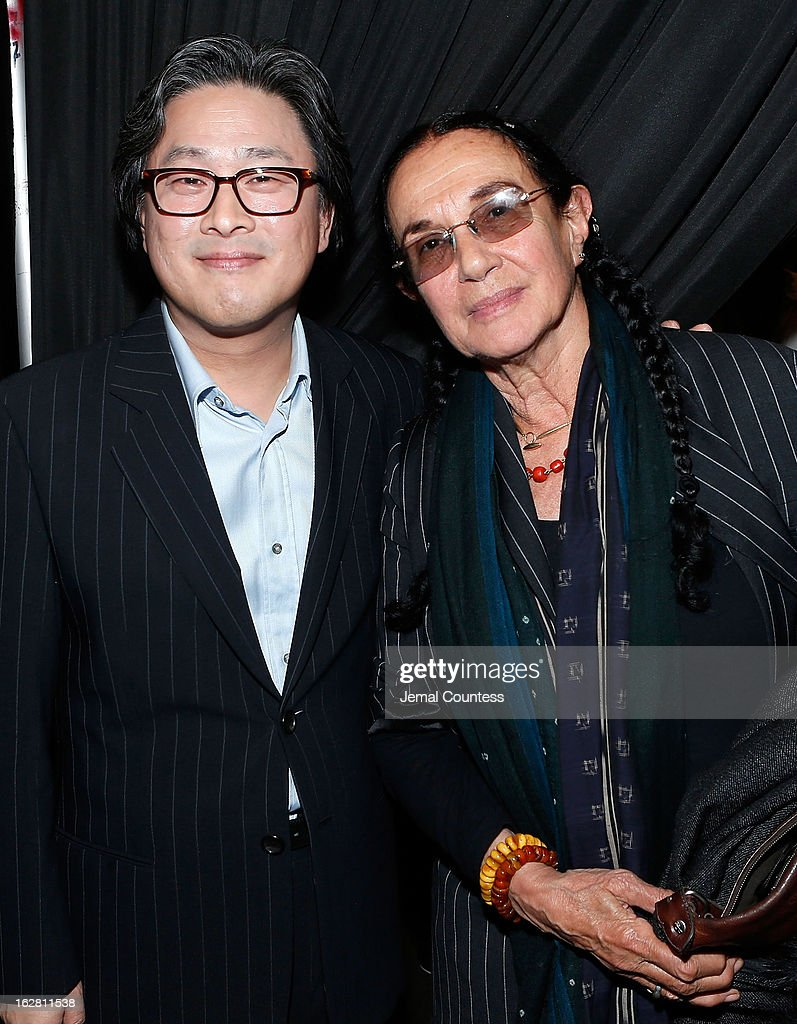 Director <a gi-track='captionPersonalityLinkClicked' href=/galleries/search?phrase=Park+Chan-wook&family=editorial&specificpeople=814445 ng-click='$event.stopPropagation()'>Park Chan-wook</a> and photographer <a gi-track='captionPersonalityLinkClicked' href=/galleries/search?phrase=Mary+Ellen+Mark&family=editorial&specificpeople=5617373 ng-click='$event.stopPropagation()'>Mary Ellen Mark</a> attend the 'Stoker' New York Screening After Party at Frieda And Roy Furman Gallery on February 27, 2013 in New York City.