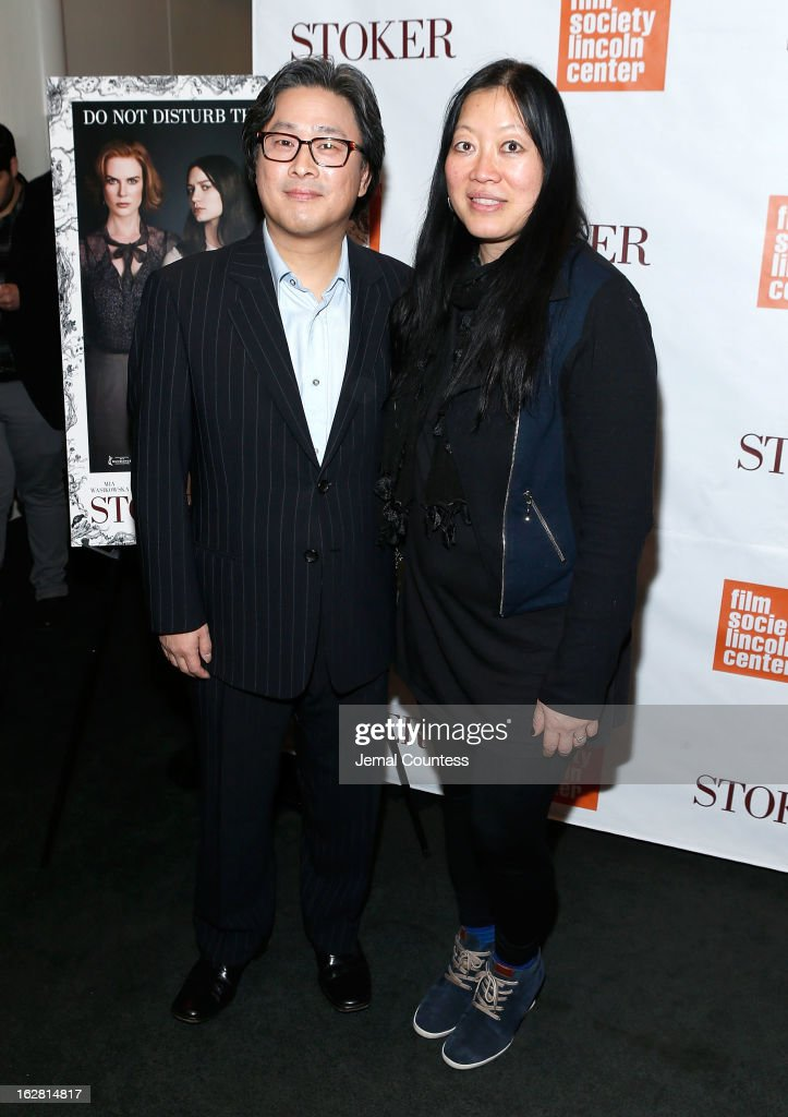 Director <a gi-track='captionPersonalityLinkClicked' href=/galleries/search?phrase=Park+Chan-wook&family=editorial&specificpeople=814445 ng-click='$event.stopPropagation()'>Park Chan-wook</a> and Rose Kuo attend the 'Stoker' New York Screening at The Film Society of Lincoln Center, Walter Reade Theatre on February 27, 2013 in New York City.