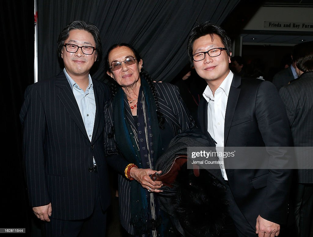 Director <a gi-track='captionPersonalityLinkClicked' href=/galleries/search?phrase=Park+Chan-wook&family=editorial&specificpeople=814445 ng-click='$event.stopPropagation()'>Park Chan-wook</a>, photographer <a gi-track='captionPersonalityLinkClicked' href=/galleries/search?phrase=Mary+Ellen+Mark&family=editorial&specificpeople=5617373 ng-click='$event.stopPropagation()'>Mary Ellen Mark</a> and co-producer Wonjo Jeong attend the 'Stoker' New York Screening After Party at Frieda And Roy Furman Gallery on February 27, 2013 in New York City.