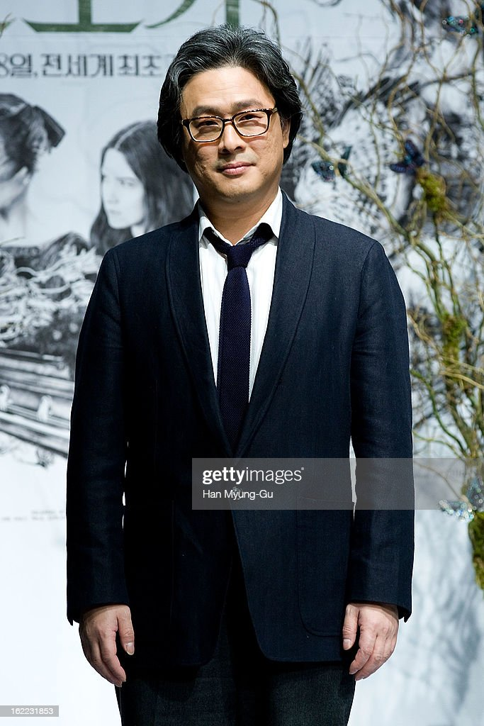 Director Park Chan-Wook poses for media during the 'Stoker' press conference at Grand Hyatt hotel on February 21, 2013 in Seoul, South Korea. The film will open on February 28 in South Korea.