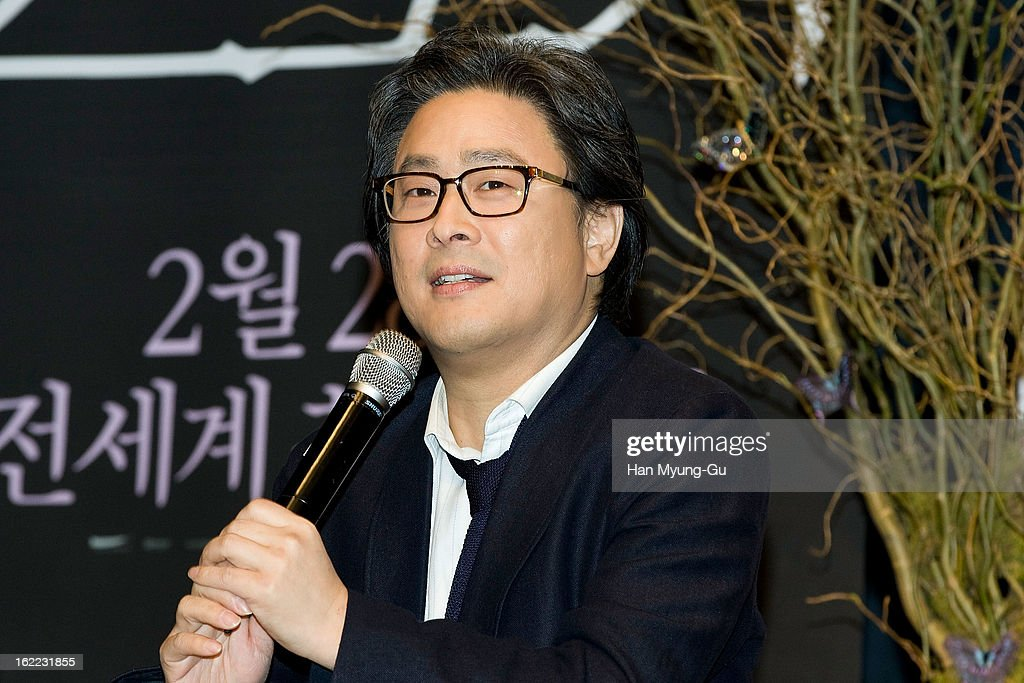 Director Park Chan-Wook speaks during the 'Stoker' press conference at Grand Hyatt hotel on February 21, 2013 in Seoul, South Korea. The film will open on February 28 in South Korea.