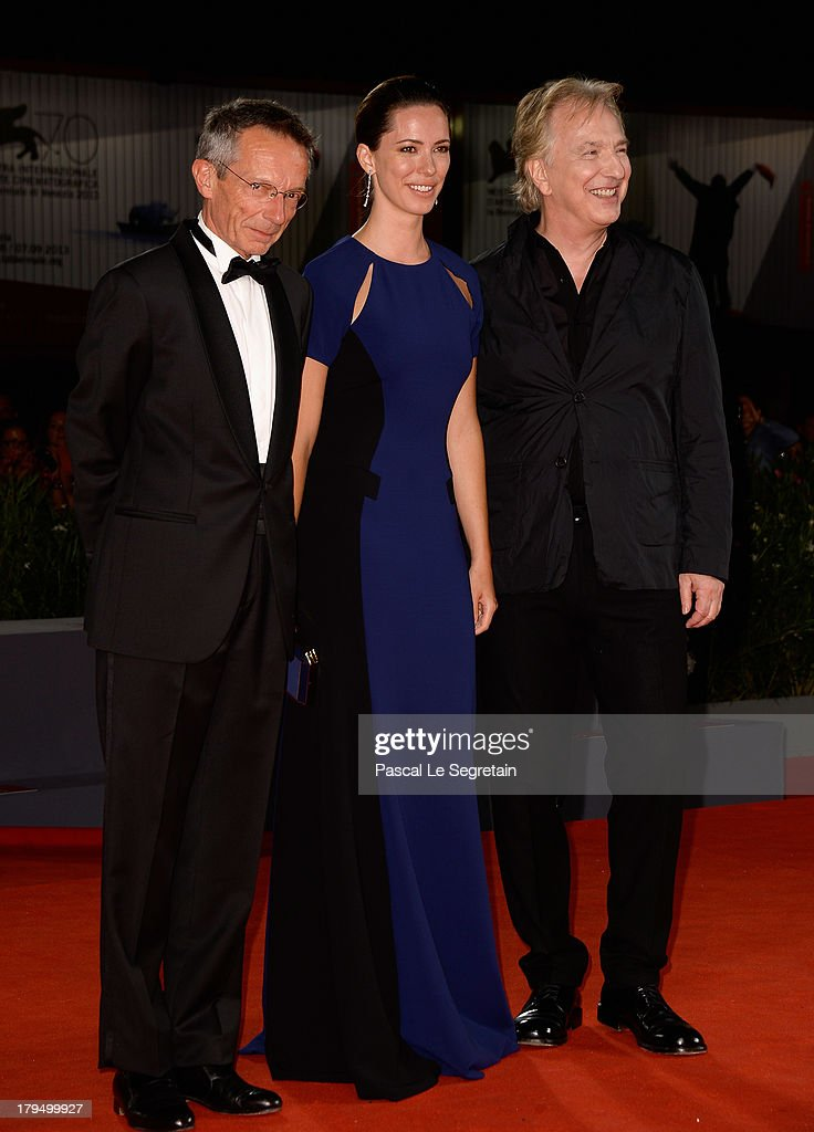 Director Patrice Leconte and actors Rebecca Hall and Alan Rickman attend the 'Une Promesse' Premiere during the 70th Venice International Film...