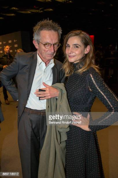 Director Patrice Leconte and Actress Clotilde Courau attend 'The Celebration of Gabriel Yared 's Film Music' at Philharmonie De Paris on December 9...