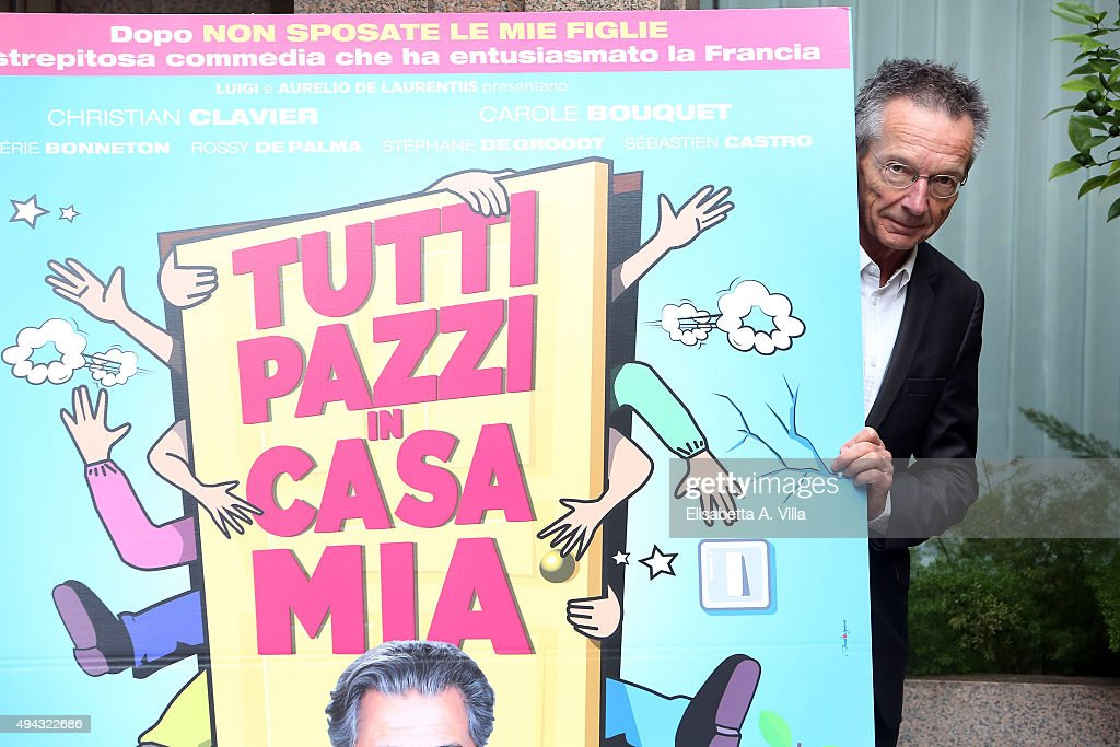 Director Patrice Leconte attends a photocall for 'Tutti Pazzi In Casa Mia' at Visconti Hotel on October 26 2015 in Rome Italy