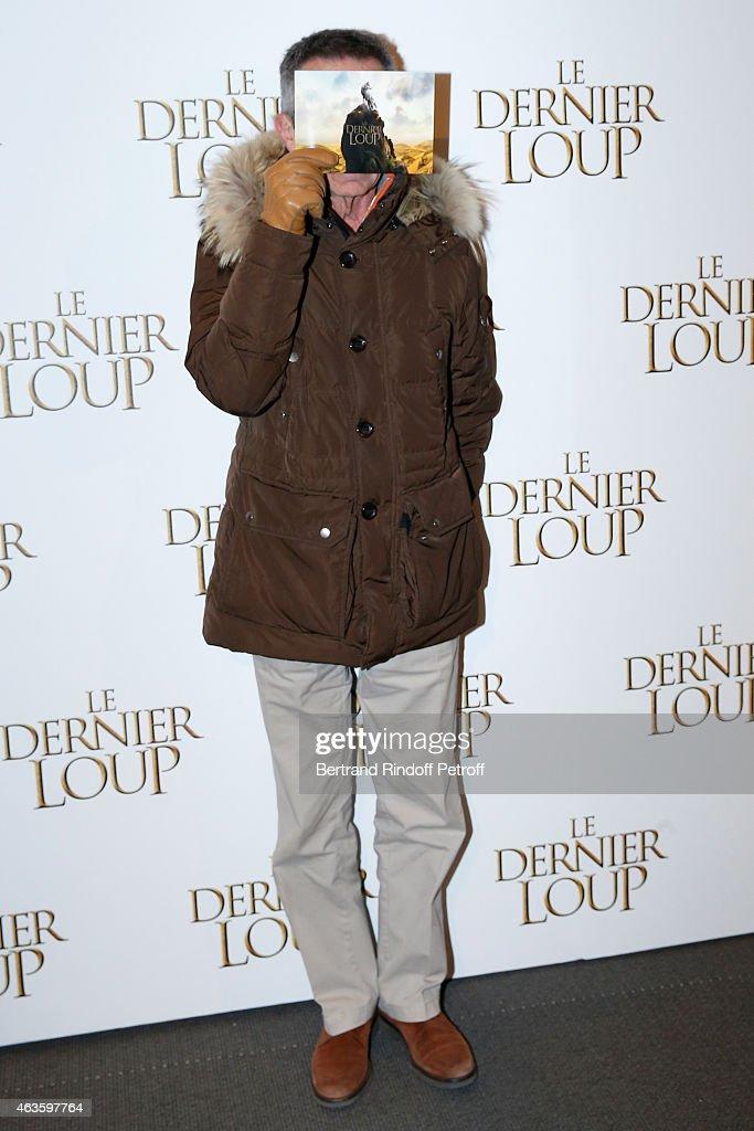 Director Patrice Leconte attends 'Le Dernier Loup' Paris Premiere Held at Cinema UGC Normandie on February 16 2015 in Paris France