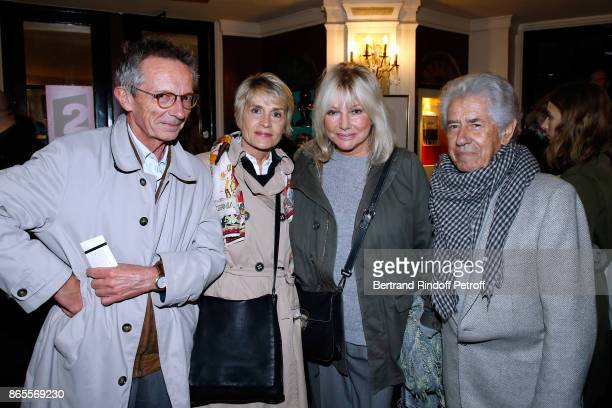 Director Patrice Leconte his wife Agnes Beraud Philippe Gildas and his wife Maryse Gildas attend the 'Ramses II' Theater Play at Theatre des Bouffes...