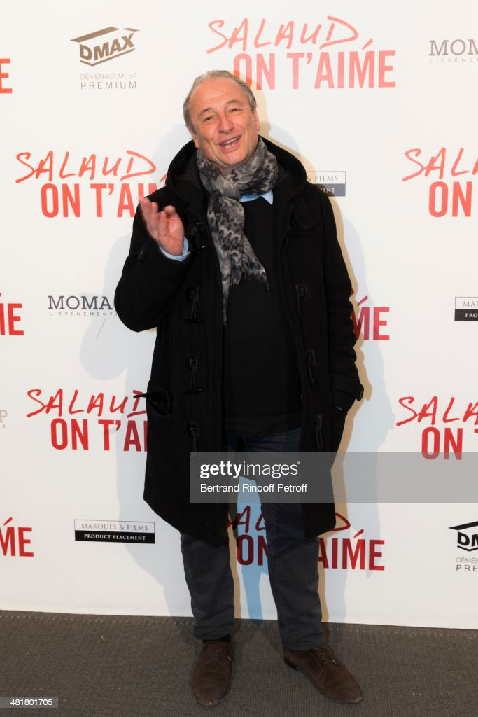 Director Patrick Braoude poses during the premiere of 'Salaud on t'aime' directed by French director Claude Lelouch at Cinema UGC Normandie on March...