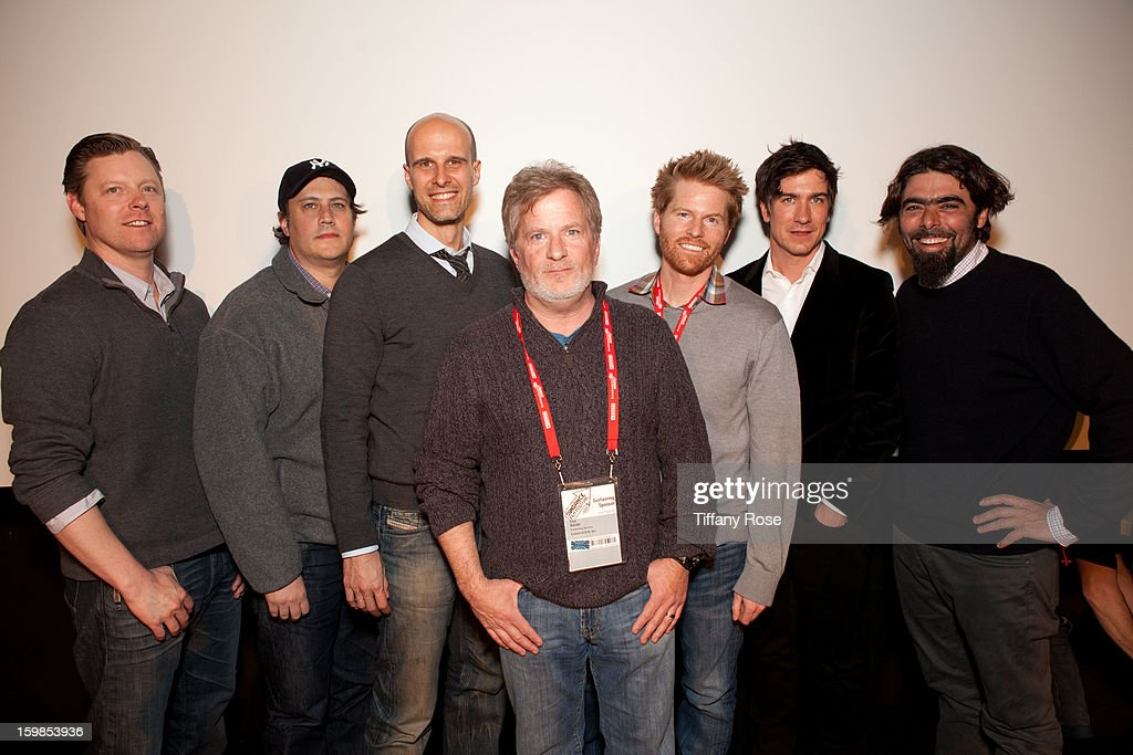 Director Patrick Malloy, Filmmaker Rich Landes, Director Edoardo Ponti, Canon Film and Television Advisor Tim Smith, Cinematographers Alex Buono, Peter Simonite and Andre Lascaris attend the Canon Workshop in Park City on January 21, 2013 in Park City, Utah.
