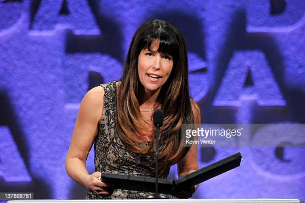 Director Patty Jenkins accepts the Outstanding Directorial Achievement in Dramatic Series award for 'The Killing' 'Pilot' onstage during the 64th...