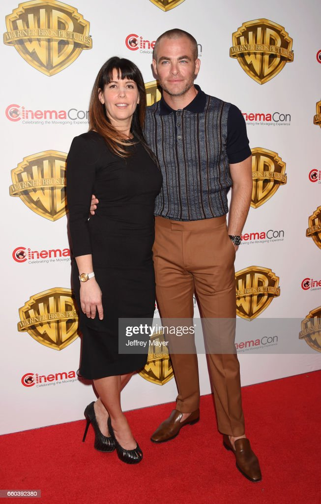 Director Patty Jenkins (L) and actor Chris Pine arrive at the CinemaCon 2017 Warner Bros. Pictures presentation of their upcoming slate of films at The Colosseum at Caesars Palace on March 29, 2017 in Las Vegas, Nevada.