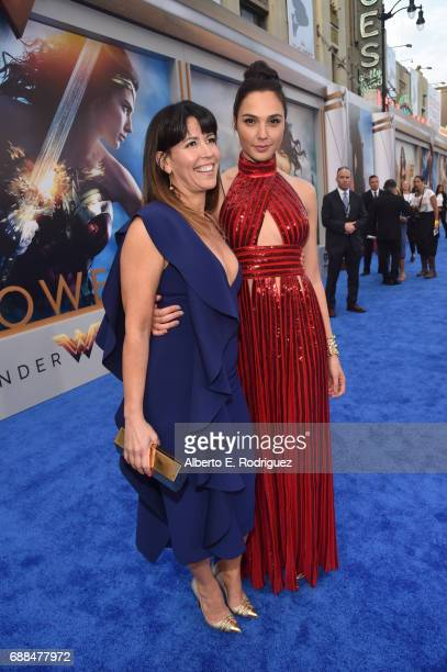 Director Patty Jenkins and actor Gal Gadot attend the premiere of Warner Bros Pictures' 'Wonder Woman' at the Pantages Theatre on May 25 2017 in...