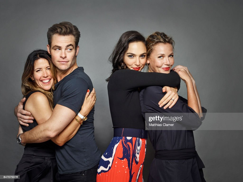 Director Patty Jenkins and actors Chris Pine, Gal Gadot and Connie Nielsen from 'Wonder Woman' are photographed for Entertainment Weekly Magazine on July 23, 2016 at Comic Con in the Hard Rock Hotel in San Diego, California.