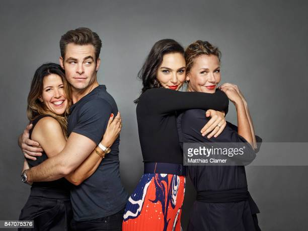 Director Patty Jenkins and actors Chris Pine Gal Gadot and Connie Nielsen from 'Wonder Woman' are photographed for Entertainment Weekly Magazine on...