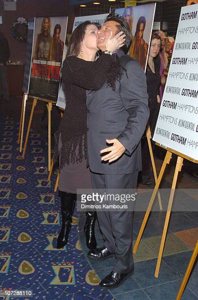 Director Patty Jenkins and Steve Perry during Gotham and Los Angeles Confidental Magazine Presents Monster' Premiere New York Inside Arrivals at...