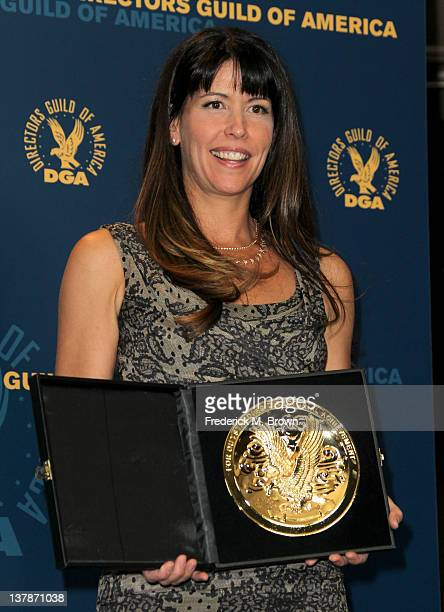Director Patty Jenkins winner of the award for Outstanding Directorial Achievement in Dramatic Series for 'The Killing' pilot espideposes in the...