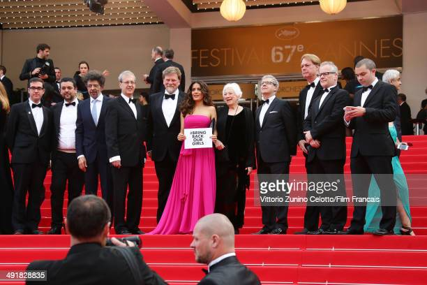 Director Paul Brizzi Actress Salma Hayek directors Roger Allers Joan C Gratz Bill Plympton and General Delegate of the Cannes Film Festival Thierry...