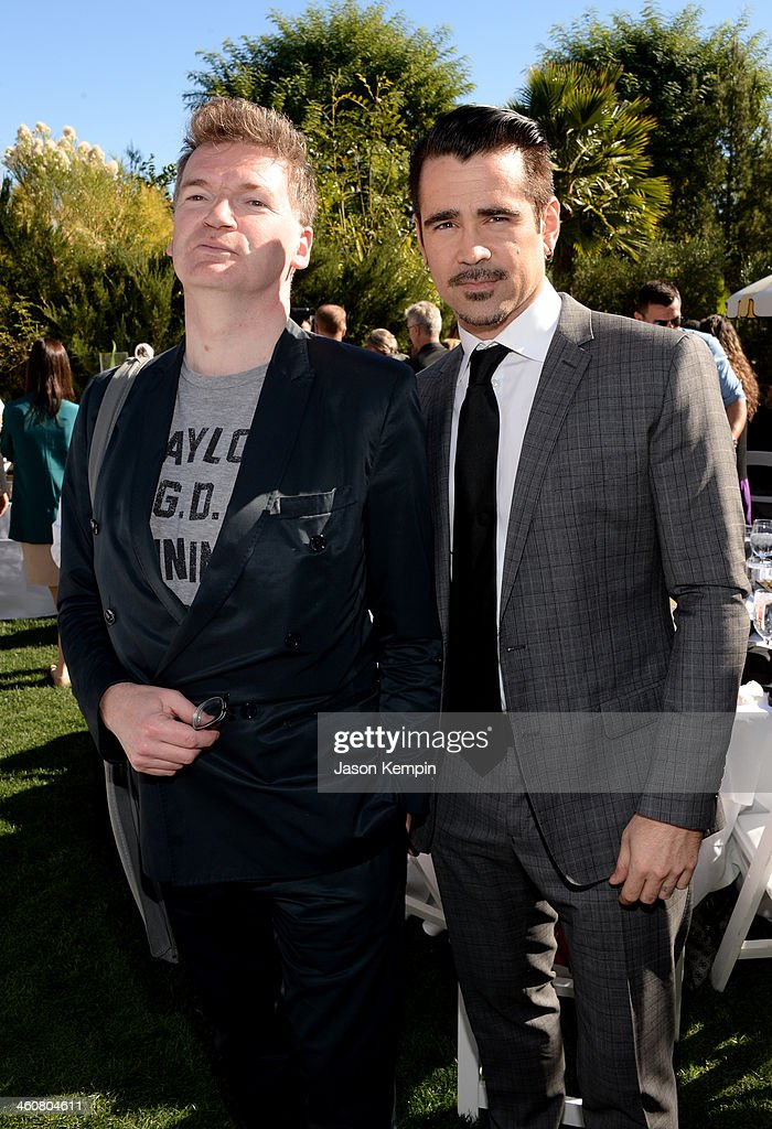 Director Paul Duane and Actor <a gi-track='captionPersonalityLinkClicked' href=/galleries/search?phrase=Colin+Farrell&family=editorial&specificpeople=202154 ng-click='$event.stopPropagation()'>Colin Farrell</a> attend Variety's Creative Impact Awards and 10 Directors to Watch brunch presented by Mercedes-Benz at The 25th Annual Palm Springs International Film Festival at Parker Palm Springs on January 5, 2014 in Palm Springs, California.