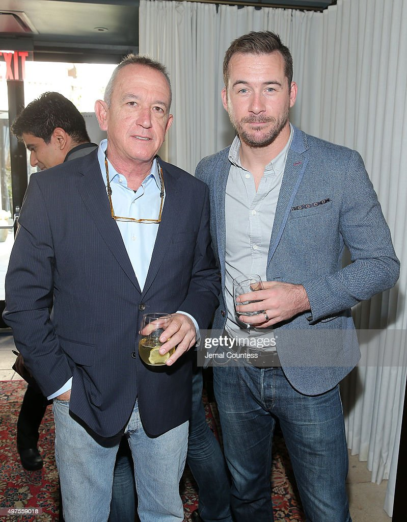 Director Paul Edwards and actor <a gi-track='captionPersonalityLinkClicked' href=/galleries/search?phrase=Barry+Sloane&family=editorial&specificpeople=1892156 ng-click='$event.stopPropagation()'>Barry Sloane</a> attend National Geographic Channel celebrates the premiere of the miniseries event Saints & Strangers (airing Nov. 22 & 23) with a Thanksgiving lunch at NoMad Hotel Rooftop on November 17, 2015 in New York City.