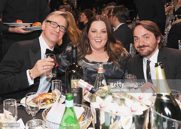 Director Paul Feig actors Melissa McCarthy and Ben Falcone with Napa Valley Vintners And Sapporo during the 19th Annual Critics' Choice Movie Awards...
