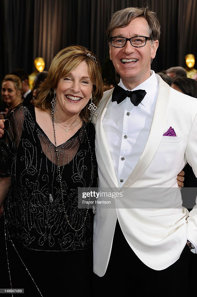 Director Paul Feig (R) and guest arrives at the 84th Annual Academy Awards held at the Hollywood & Highland Center on February 26, 2012 in Hollywood, California.