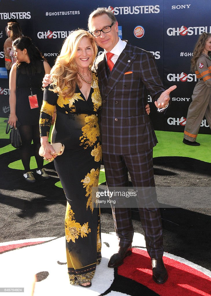 Director Paul Feig and wife Laurie Karon attend the premiere of Sony Pictures' 'Ghostbusters' at TCL Chinese Theatre on July 9 2016 in Hollywood...