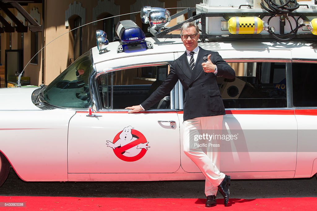 Director Paul Feig during the press presentation of the remake of the Ghostbusters at Casa del Cinema in Rome.