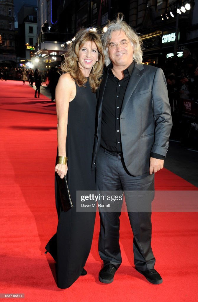 Director <a gi-track='captionPersonalityLinkClicked' href=/galleries/search?phrase=Paul+Greengrass&family=editorial&specificpeople=240256 ng-click='$event.stopPropagation()'>Paul Greengrass</a> (R) and Joanna Kaye attend the European Premiere of 'Captain Phillips' on the opening night of the 57th BFI London Film Festival at Odeon Leicester Square on October 9, 2013 in London, England.