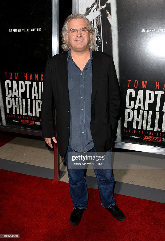 Director Paul Greengrass attends the premiere of Columbia Pictures' 'Captain Phillips' at the Academy of Motion Picture Arts and Sciences on September 30, 2013 in Beverly Hills, California.