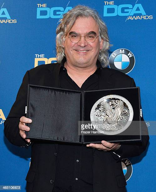 "Director Paul Greengrass recipient of the Feature Film Nomination Plaque for ""Captain Phillips' poses in the press room during the 66th Annual..."