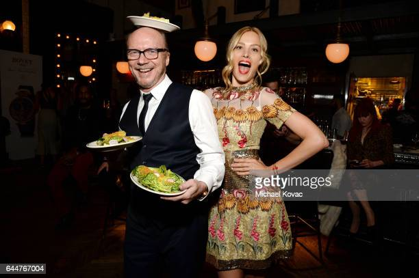 Director Paul Haggis and model Petra Nemcova serve dinner at BOVET 1822 Artists for Peace and Justice Present 'Songs From the Cinema' Benefit on...